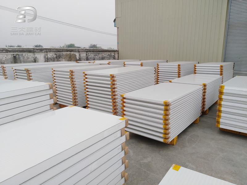 净化板系例-s型泡沫拼接夹芯板-彩钢夹芯板材