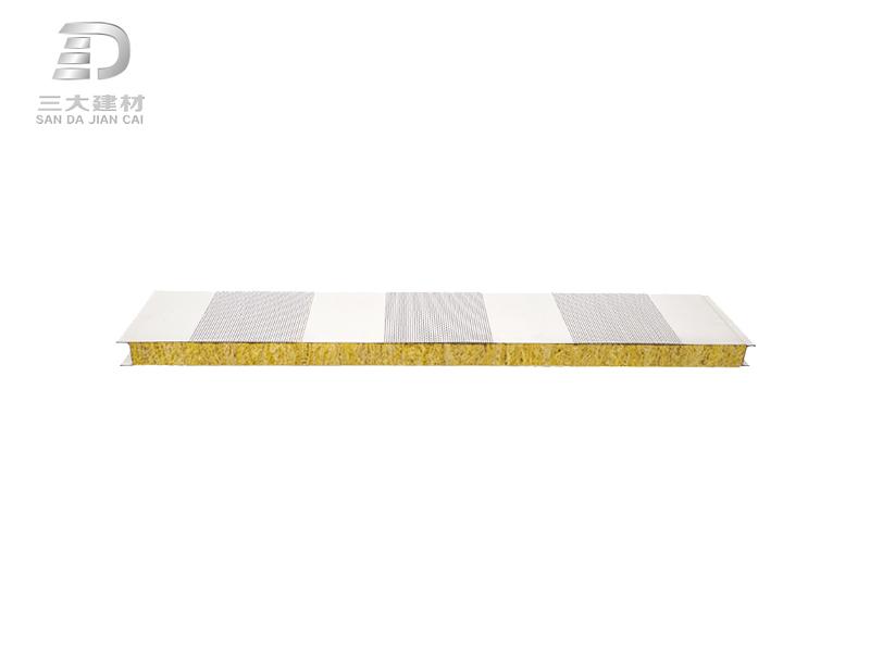 净化板系例-岩棉消音夹芯板-彩钢夹芯板材