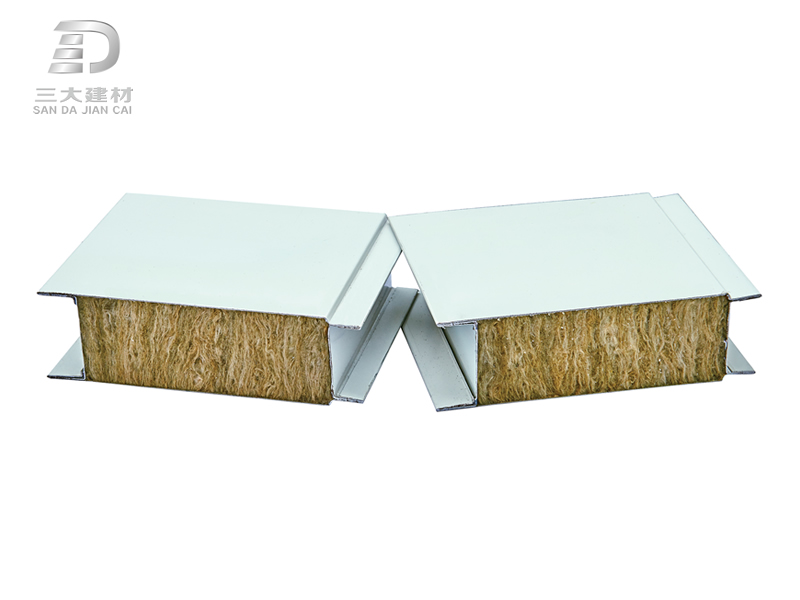 净化板系例-岩棉夹芯板-彩钢夹芯板材