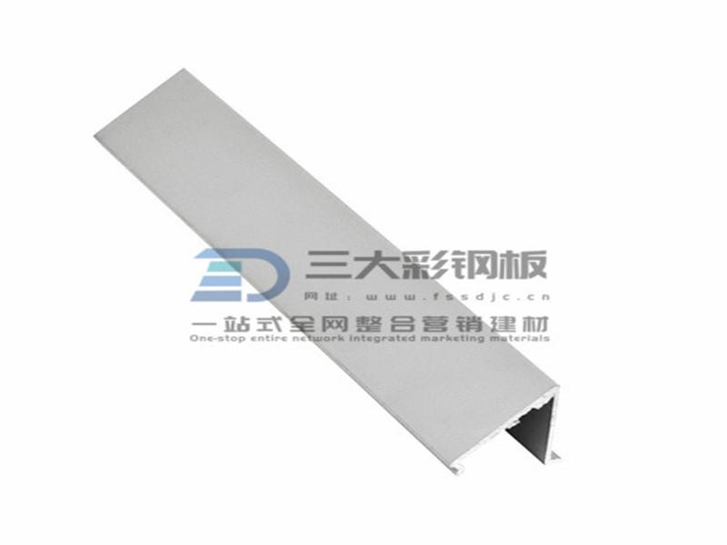 净化铝材-固定窗弧型压线铝件-彩钢夹芯板安装配件